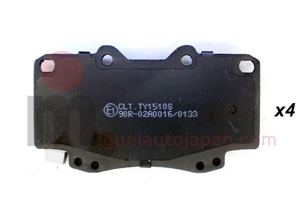 Pastillas de freno delanteras sin ABS Toyota Hilux 2005-2011