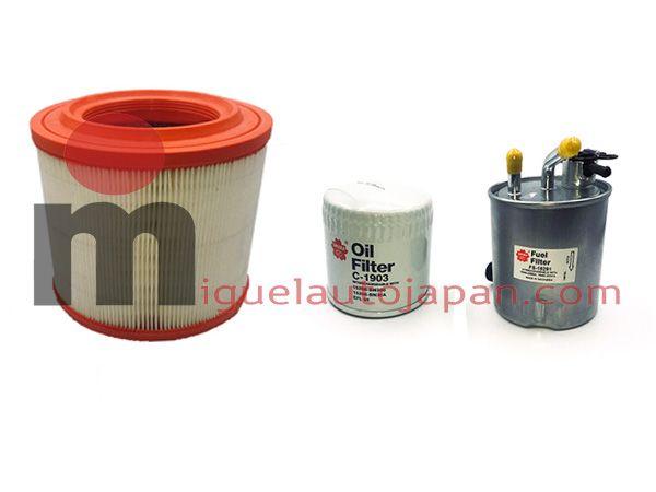 Kit de 3 filtros para Nissan Cabstar